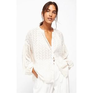 Free People White Down From The Clouds Boho Xs